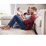 Säugling, Eltern, Zuhause, Verbundenheit