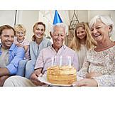Grandfather, Birthday, Birthday Cake