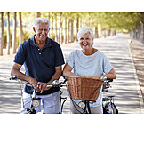 Bicycle, Excursion, Older Couple