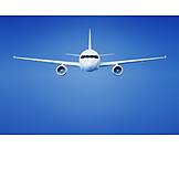 Airplane, Flying, Aviation, Jet