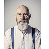 Portrait, Senior, Bearded