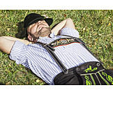 Man, Sleeping, Bavarian, Costumes
