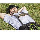 Man, Sleeping, Bavarian, Costumes