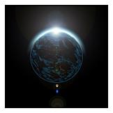 Sun, Earth, Flare, Universe