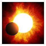 Sun, Sunlight, Planet, Solar Eclipse