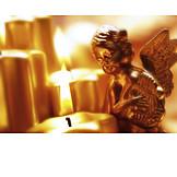 Engel, Weihnachtsdekoration, Kerzenschein