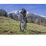 Aktiver Senior, Mountainbiken, Vizentiner Alpen