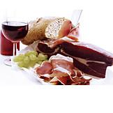 Red Wine, Parma Ham, Picnic