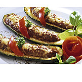 Baked Meal, Stuffed Zucchini, Meat Dish