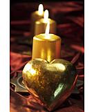 Heart, Candlelight, Advent Season