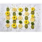 Pattern, Fruits, Flowers