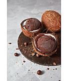 Ice, Scoop, Chocolate Ice Cream