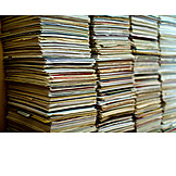 Recycled Paper, Documents, Paper Stack