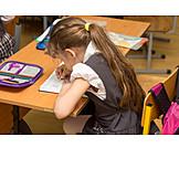 School, Writing, Schoolgirl