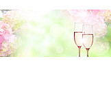 Wedding, Celebrations, Champagne Glasses, Floral