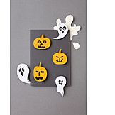 Handicrafts, Halloween, Invitation Card