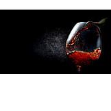 Wein, Rotwein, Einschenken