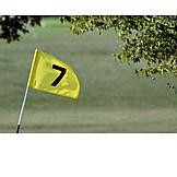 7, Golf, Golf Flag