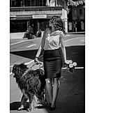 Woman, Dog