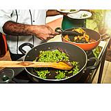 Kochen, Indische Küche, Pfannengericht