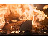 Fire, Log, Firewood