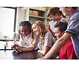 School, Friends, Smart Phone, Lunch Break
