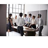 Geschäftsfrau, Mitarbeiter, Arbeitsbesprechung