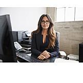 Business Woman, Desk