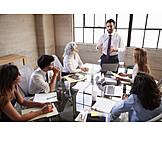 Businessman, Presentation, Colleagues