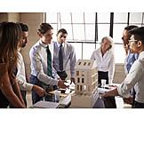 Entwurf, Präsentation, Teambesprechung, Architekten