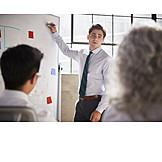 Geschäftsmann, Präsentation, Whiteboard