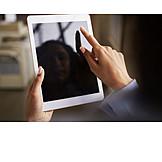 Mobile Kommunikation, Online, Touchscreen, Tablet-pc