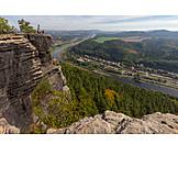 Elbe valley, Saxon switzerland, Lilienstein