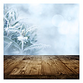 Nature, Frost, Wooden Table