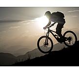 Extreme Sports, Silhouette, Mountain Biker