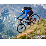 Extreme sports, Mountain bike, Mountain biker