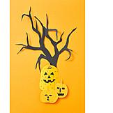 Halloween, Bastelarbeit, Einladungskarte