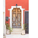Entrance, Wooden door, Front door