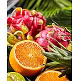 Orange, Tropical Fruit