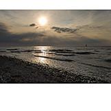 Backlighting, Sun, Baltic Sea Coast
