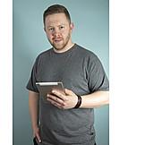 Man, Mobile Communication, Tablet-pc