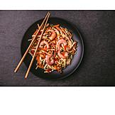 Meeresfrüchte, Thailändische Küche, Nudelpfanne