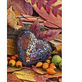 Heart, Still Life, Autumn Decoration