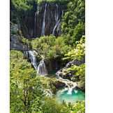 Waterfall, National Park Plitvice Lakes
