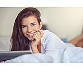 Young Woman, Comfortable, Domestic Life