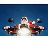Santa clause, Biker