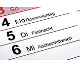 Fasching, Rosenmontag, Fastnacht, Aschermittwoch, 2019