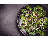 Salad, Spinach, Goat cheese