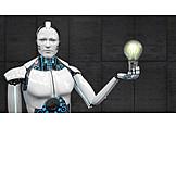 Forschung, Einfall, Roboter, Kybernetik