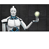 Research, Idea, Robot